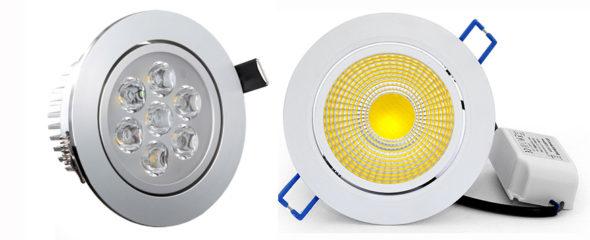 Bilde av SMD downlight og COB downlights