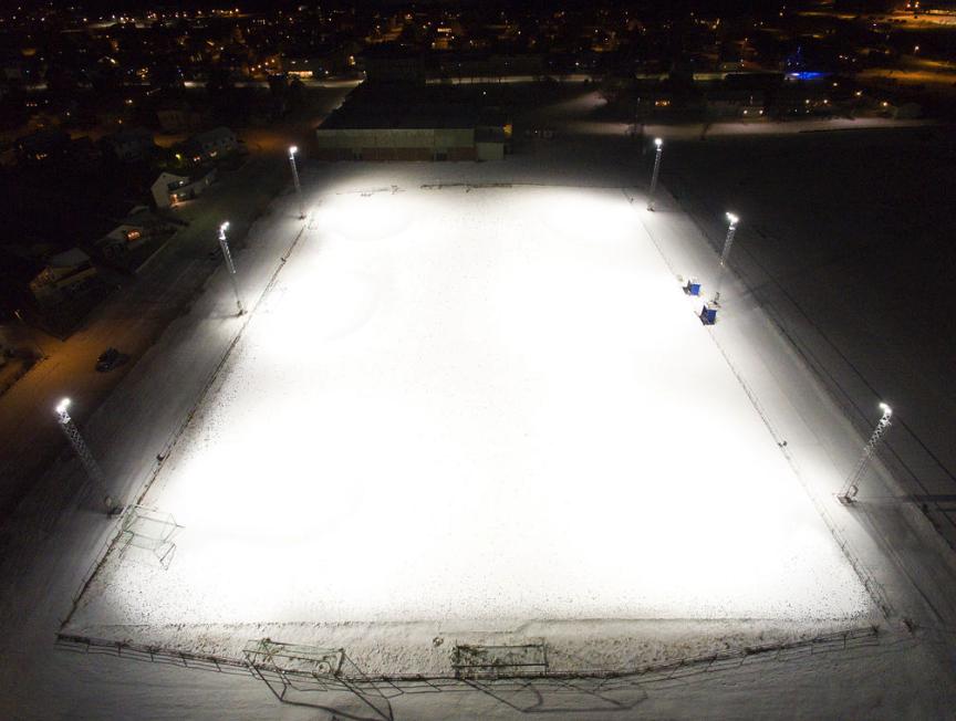 dronebilde over andøya fotballbane