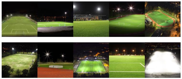 Bilder av 10 ule fotballbaner