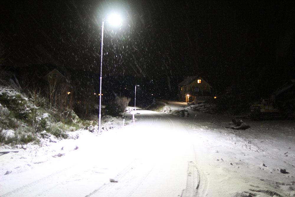 gate på kvelden i kristiansund