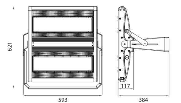 Montering og funksjon og mer teknisk info på 500w belysning