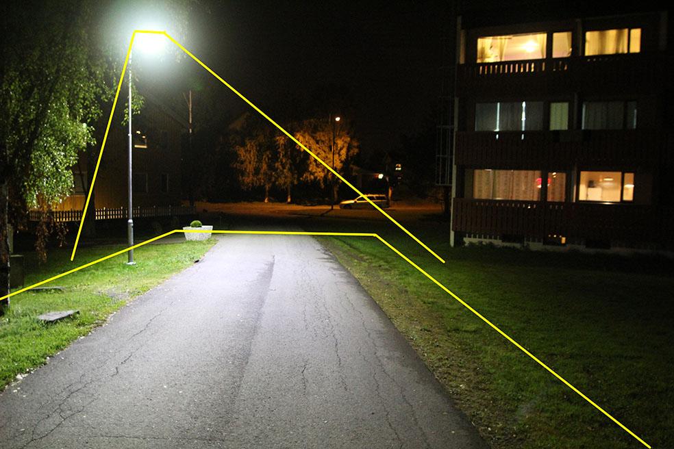 lyslinser på gatelys