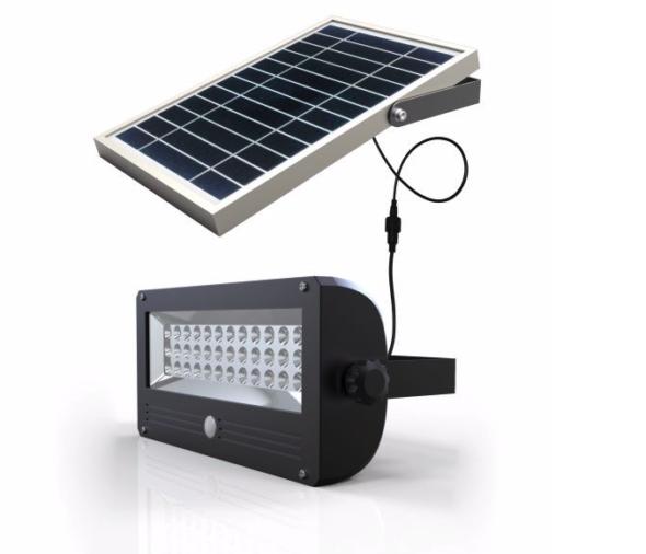 LED-belysning demonstrasjon av solcelle lys