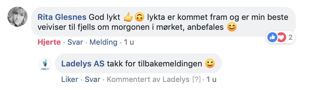 facebook kommentar om hodelykten